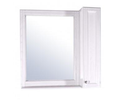 Зеркало ASB-Woodline Берта 85 со шкафчиком массив ясеня белое