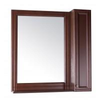 Зеркало ASB-Woodline Берта 85 со шкафчиком массив ясеня орех