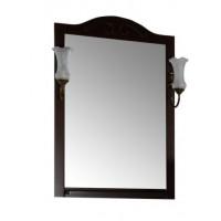 Зеркало ASB-Woodline Флоренция  65 с полкой и светильниками массив ясеня бук тироль