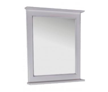Зеркало ASB-Woodline Прато 70 массив ясеня белое