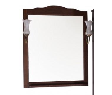 Зеркало ASB-Woodline Римини Nuovo-60 со светильниками массив ясеня орех