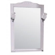 Зеркало ASB-Woodline Римини Nuovo-60 со светильниками массив ясеня белый