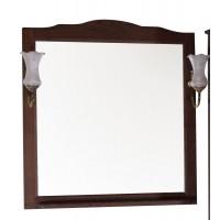 Зеркало ASB-Woodline Римини Nuovo-80 со светильниками массив ясеня орех