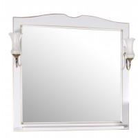 Зеркало ASB-Woodline Верона 90 со светильниками массив ясеня белое