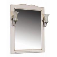 Зеркало ASB-Woodline Верона 65 со светильниками массив ясеня бежевое