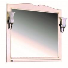Зеркало ASB-Woodline Верона 90 со светильниками массив ясеня бежевое