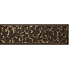 LASSELSBERGER Бордюр настенный Анастасия 1502-0605 7,5x25 Шоколад