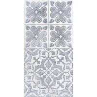 LASSELSBERGER Настенная плитка декор2 Кампанилья 1641-0094 20x40 серый