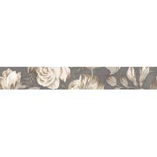 LASSELSBERGER Бордюр настенный Фиори Гриджо 1506-0100 9х60 цветы