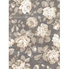 LASSELSBERGER Панно настенное Фиори Гриджо 1608-0116 60х80 цветы (комплект из 4 шт)