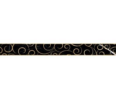 LASSELSBERGER Бордюр настенный Миланезе Дизайн 1506-0160 6х60 флорал неро