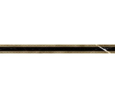 LASSELSBERGER Бордюр настенный Миланезе Дизайн 1506-0161 3,6х60 римский неро