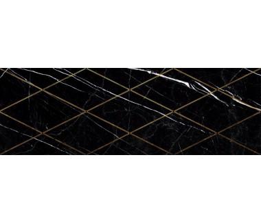 LASSELSBERGER Настенная плитка декор Миланезе Дизайн 1664-0149 20х60 римский неро